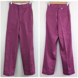 VTG Burgundy Dickies 874 Pleat Front Work Pants
